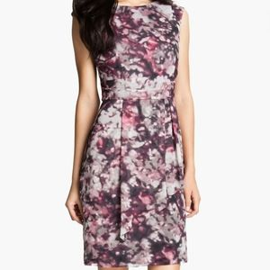 Vince Camuto Drape Skirt Chiffon Dress
